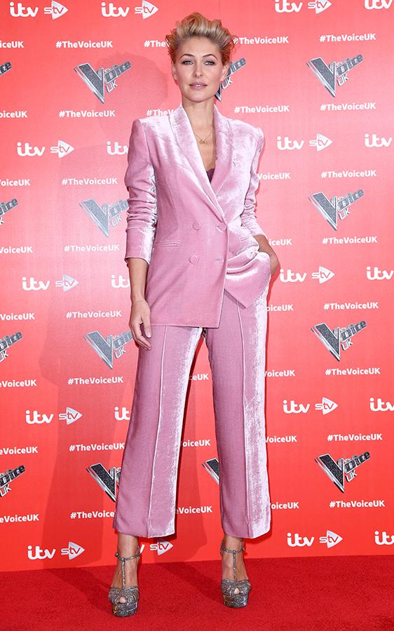 Emma Willis pink suit