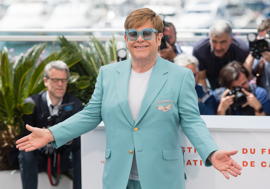 Elton John Gucci Glasses Rocketman Cannes