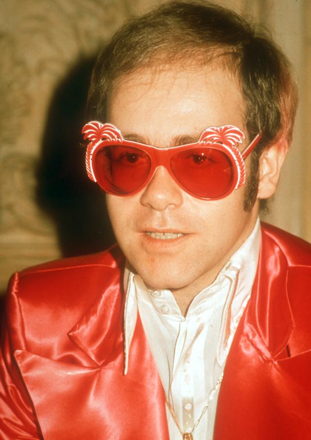 Elton John Palm Tree Glasses 1975