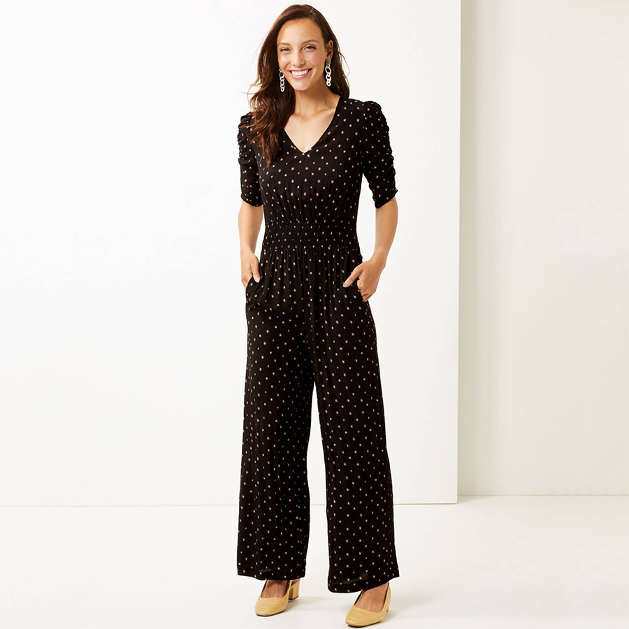 Marks and Spencer spot jumpsuit