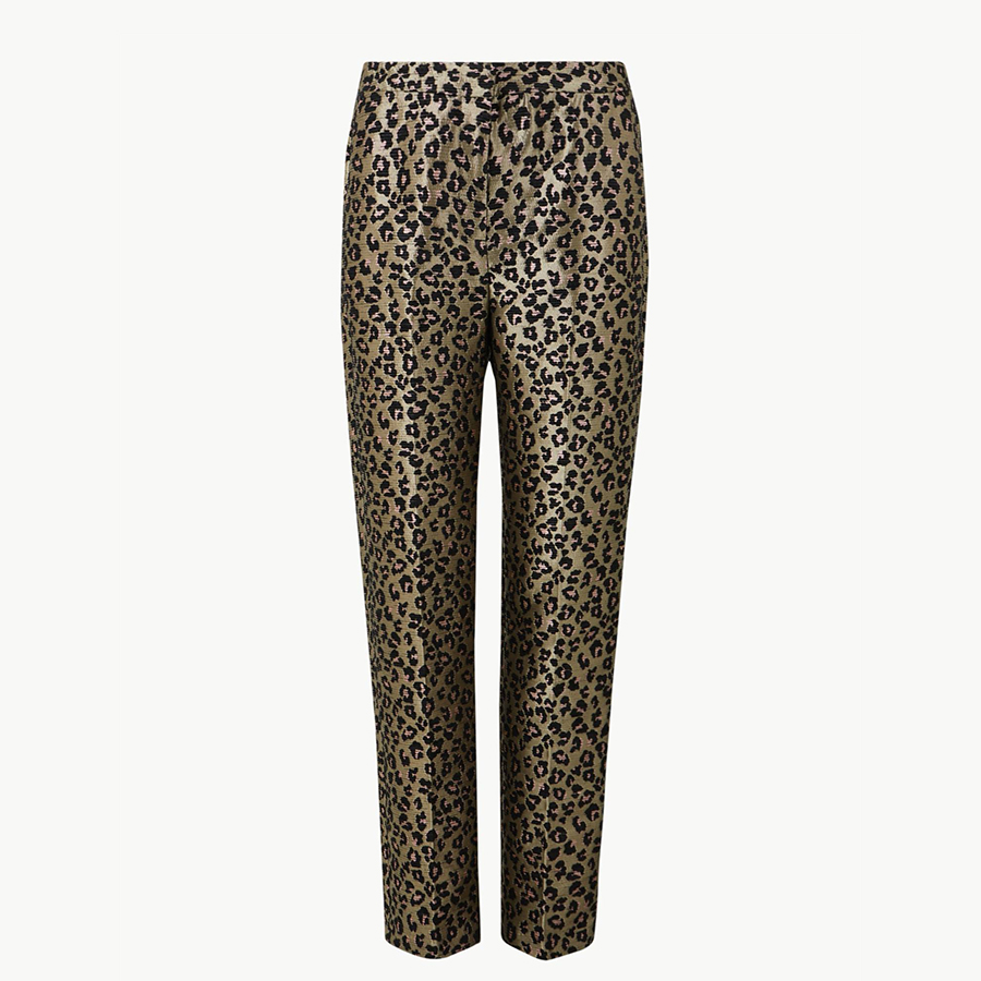Marks and Spencer leopard trousers
