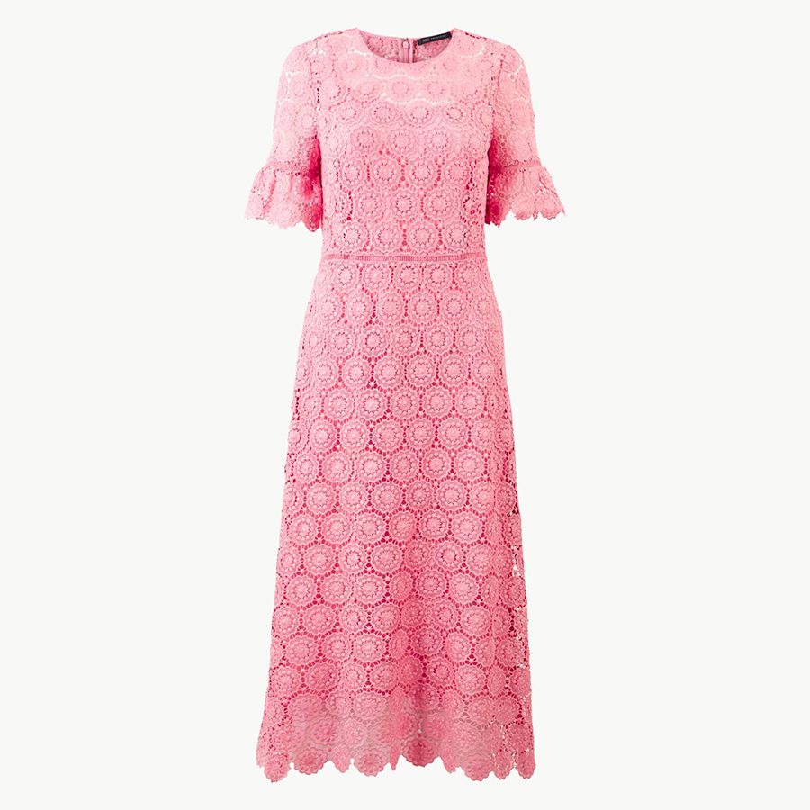 Marks and Spencer pink dress