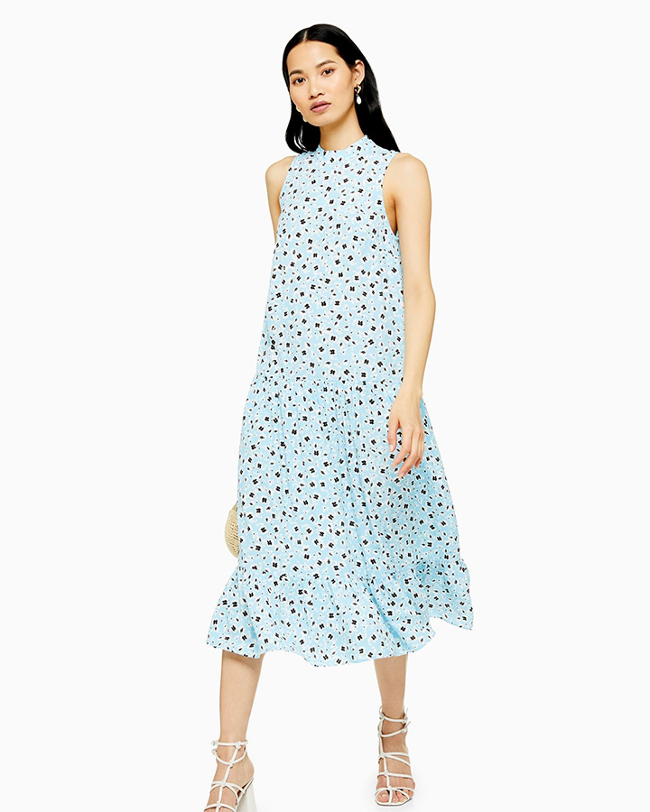 Airport Style 2019 Topshop ditsy print dress