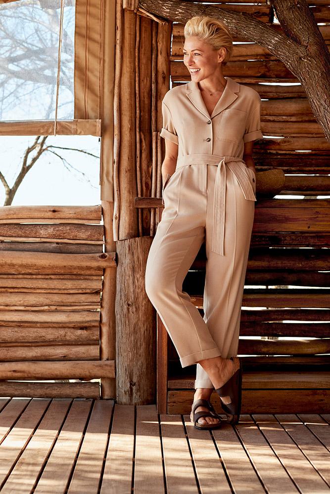 emma willis next camel jumpsuit