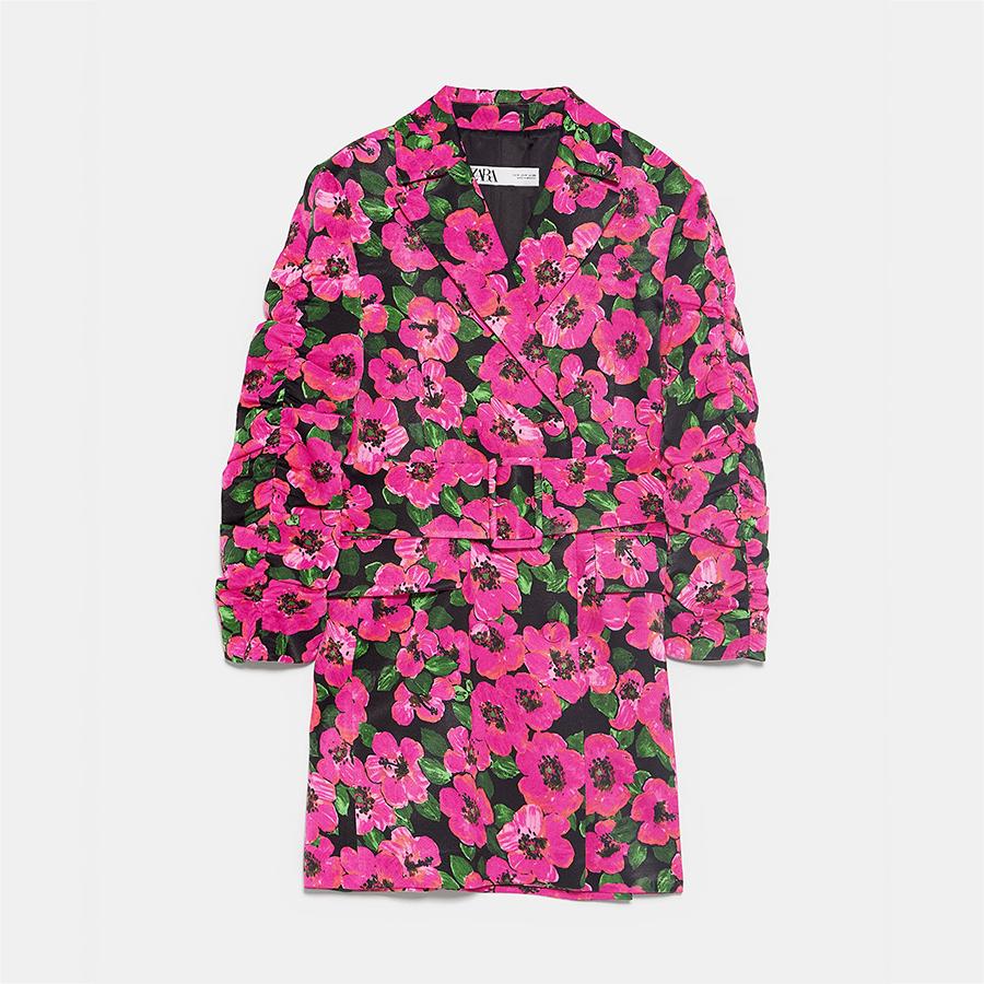 Zara floral blazer dress