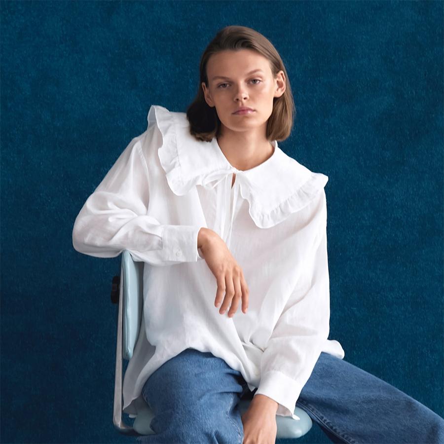 Zara Peter Pan collar shirt