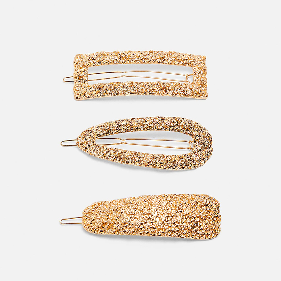 Zara gold hair clips