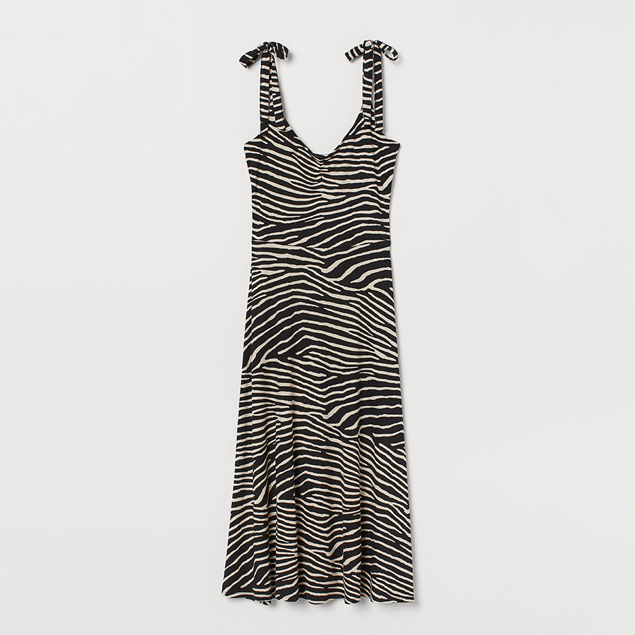 H&M zebra summer dress