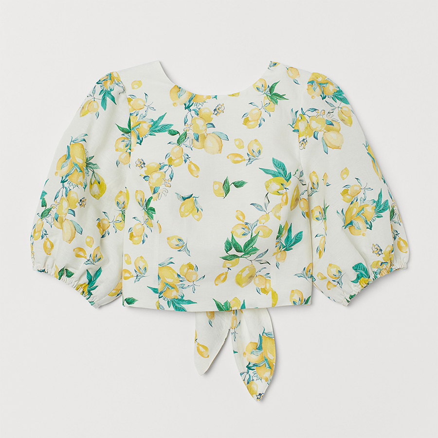 H&M lemon print summer top