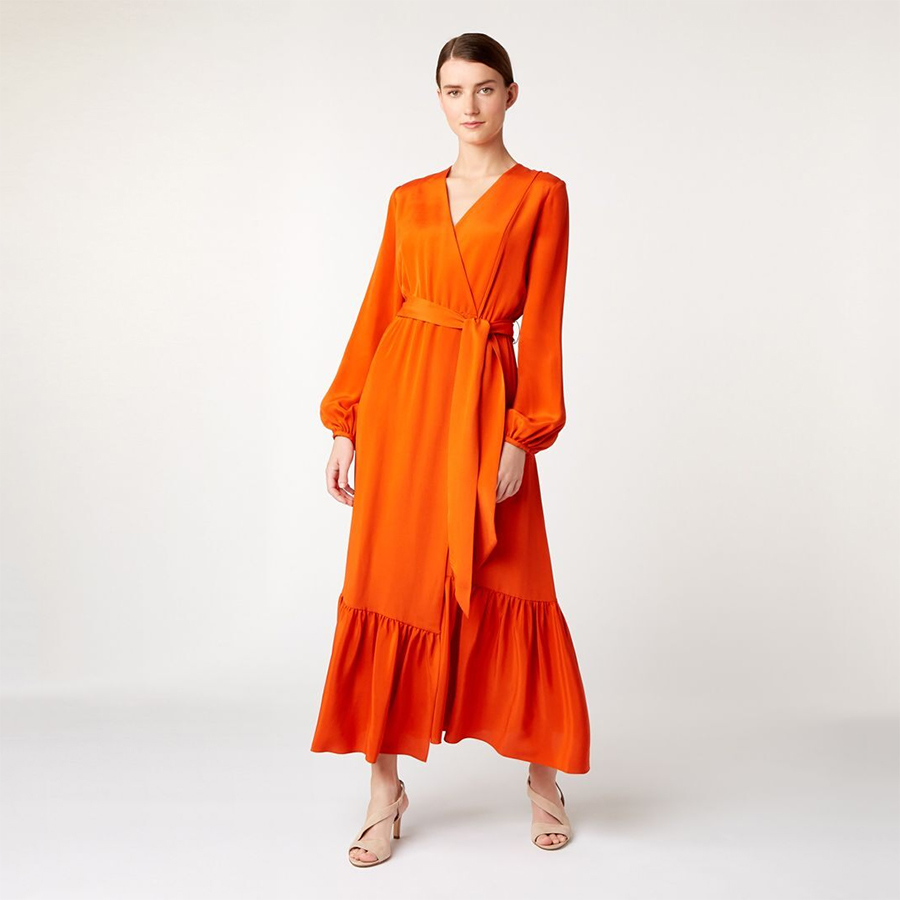 Hobbs orange dress