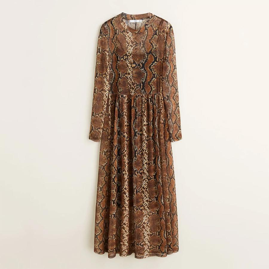 Mango snake print dress