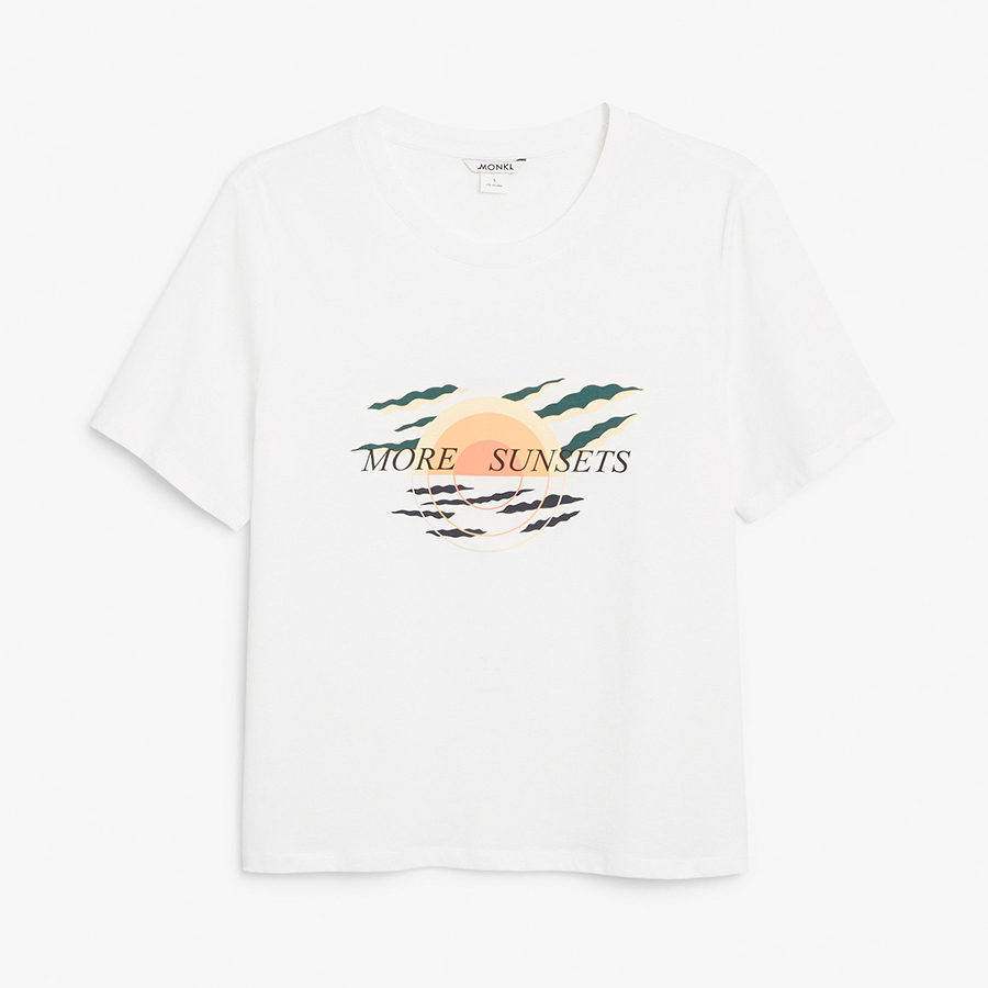 Monki sunset tshirt