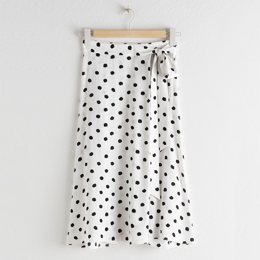 Other Stories summer sale spotty skirt