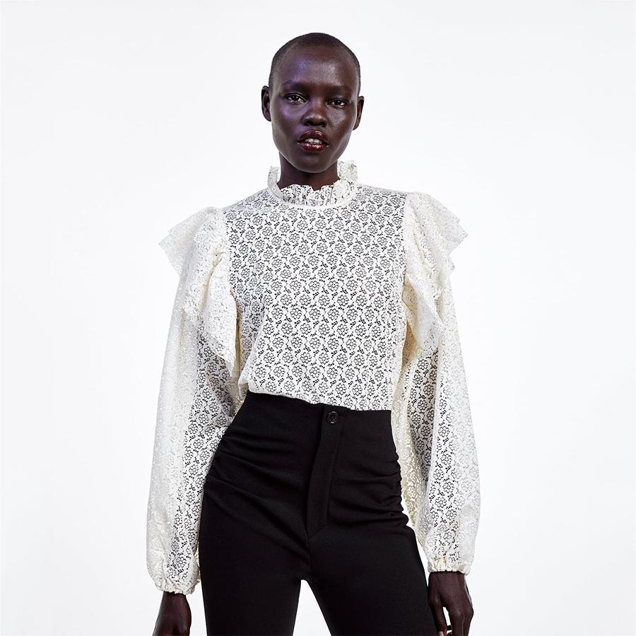 Zara frilled blouse