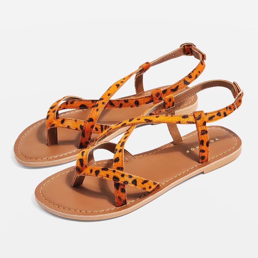 topshop print summer sandals