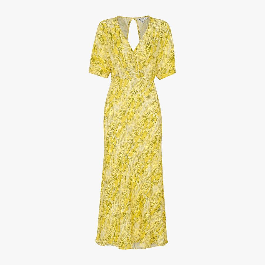 Whistles yellow dress