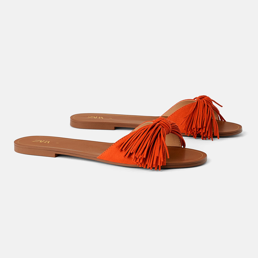Zara fringed summer sandals