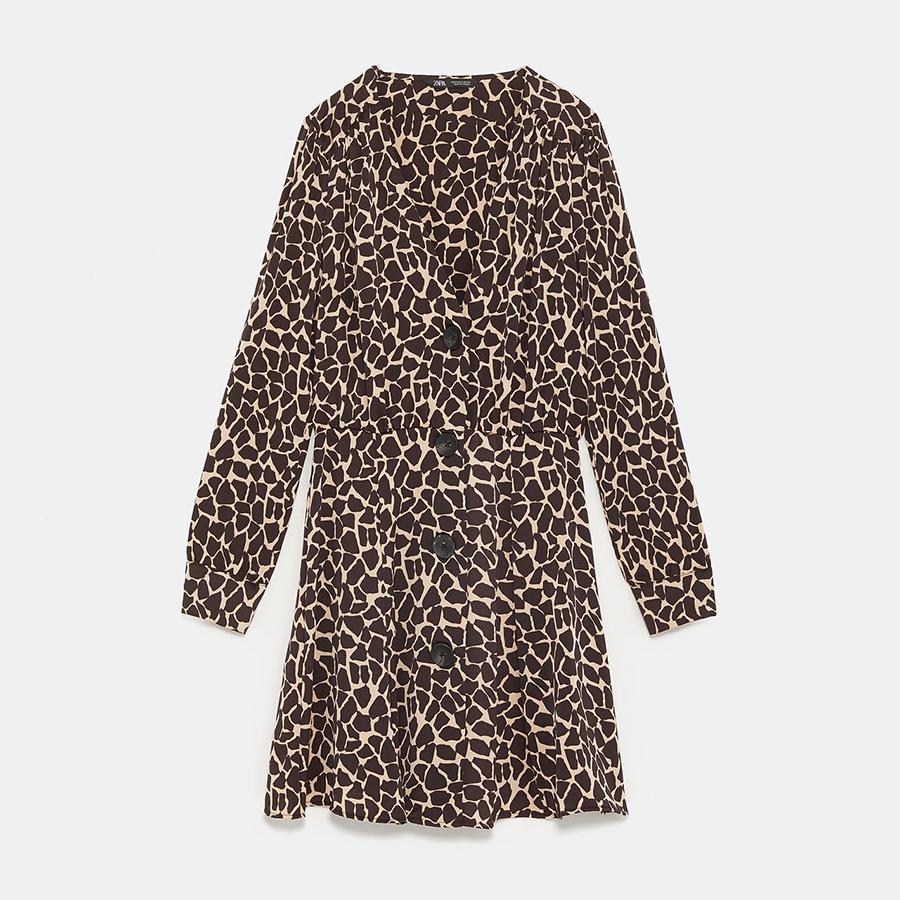 zara laeopard dress