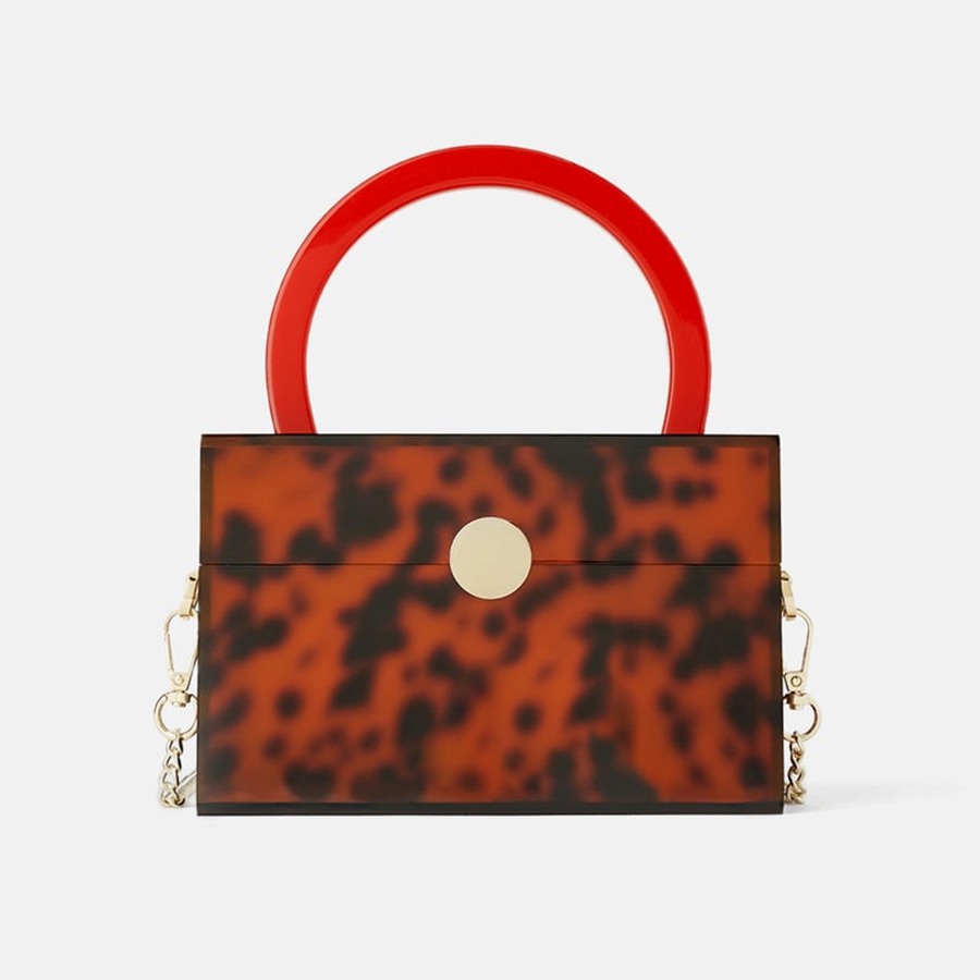 zara leopard bag