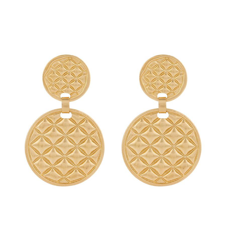 Accessorize gold disk earrings