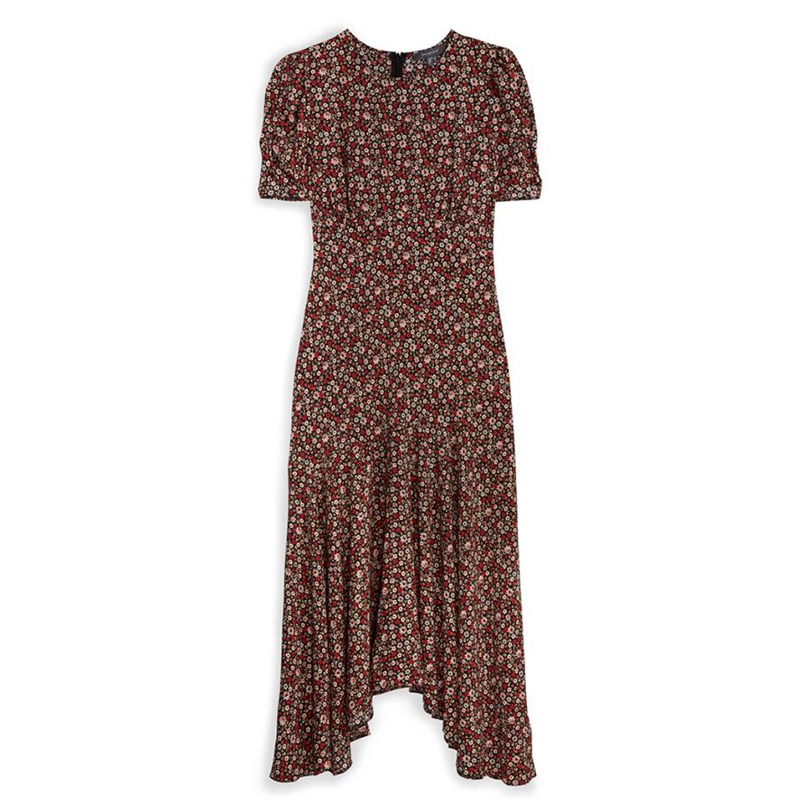 Primark ditsy red midi dress