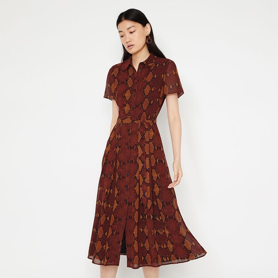 Warehouse snakeskin dress