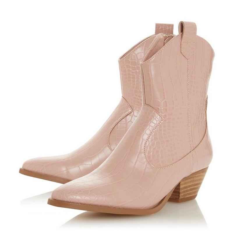 dune pink cowboy boots