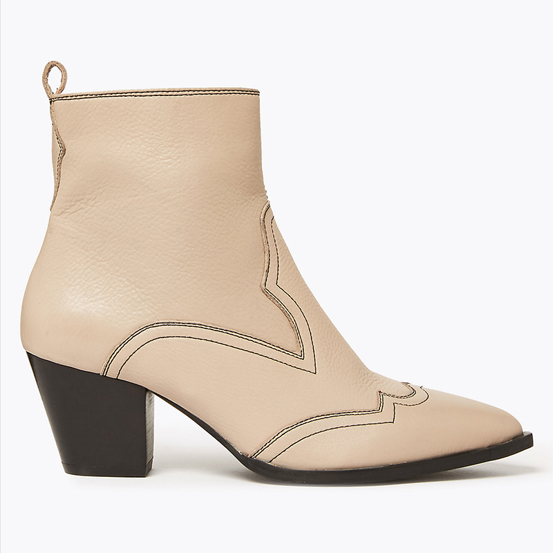 marks and spencer beige western boots