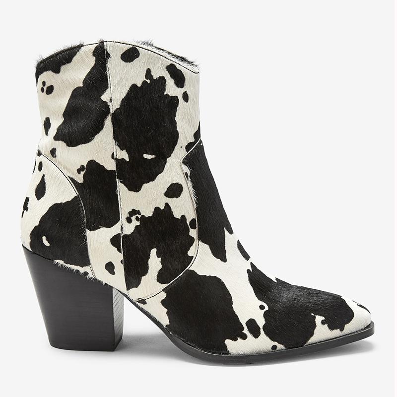 cow print cowboy boots