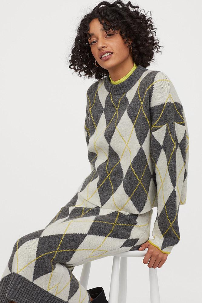 Pringle of Scotland H&M collaboration skirt