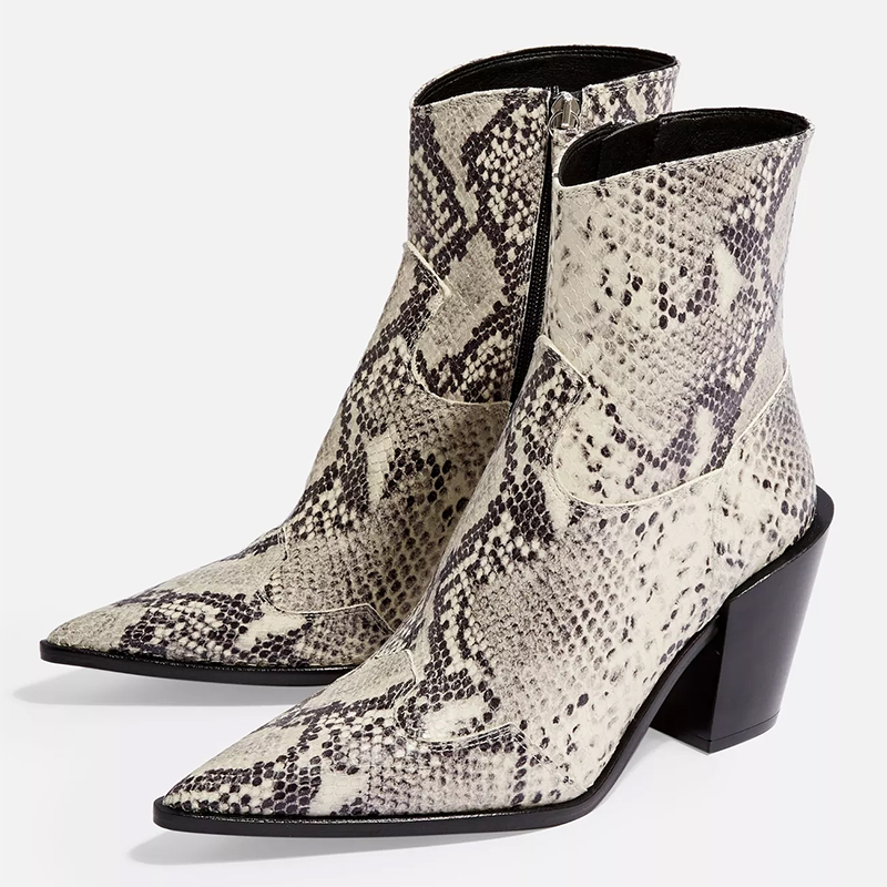 topshop snakeskin boots