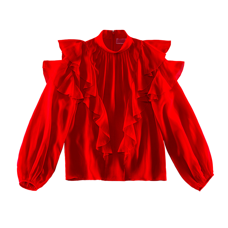Giambattista Valli X H&M red blouse