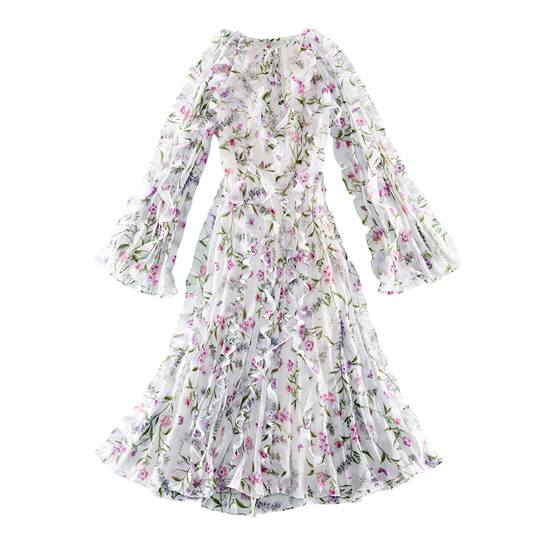 Giambattista Valli X H&M white floral dress