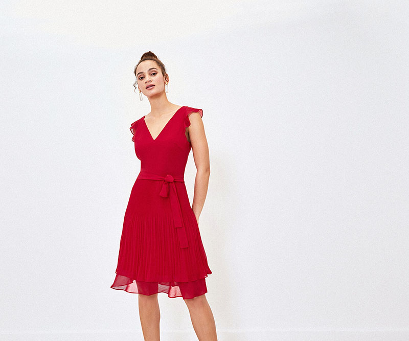Christmas Party Dresses 2019, red dress oasis