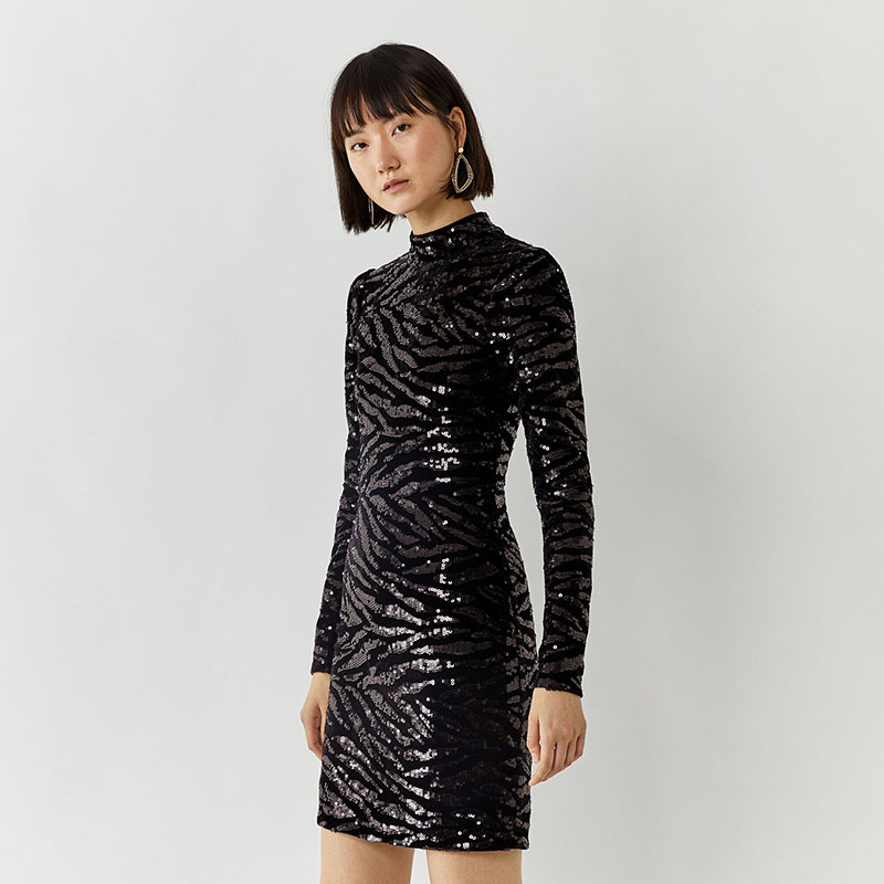 warehouse sequin dress