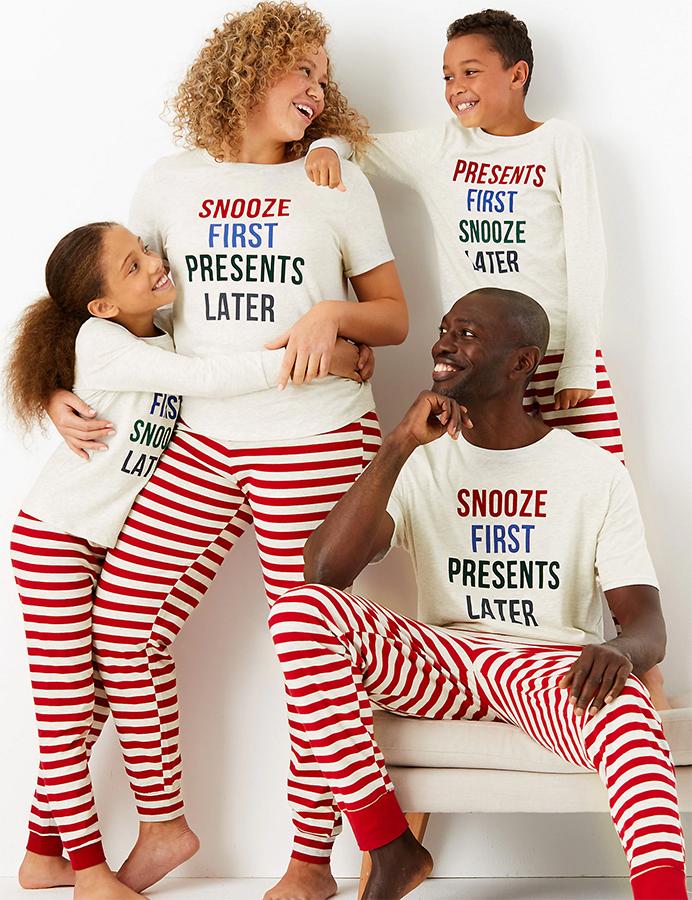 marks and spencer matching family pyjamas