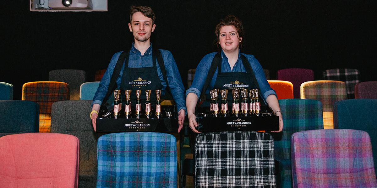 Moet & Chandon Champagne Cinema Club Glasgow