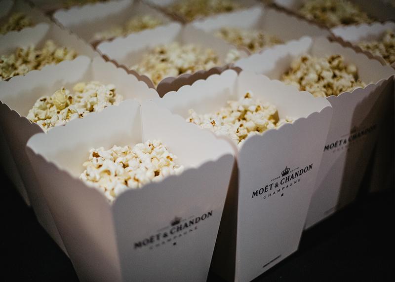Moet and Chandon popcorn