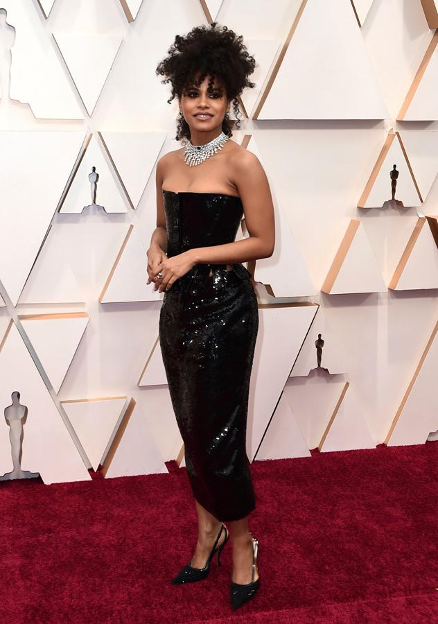 Zazie Beetz Oscars Red Carpet
