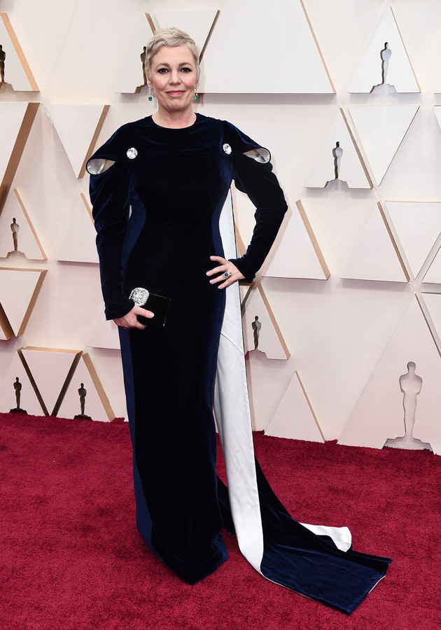 Olivia Colman Oscars Red Carpet