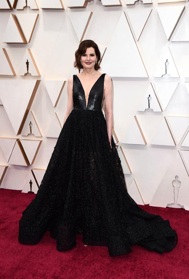 Geena Davis Oscars Red Carpet