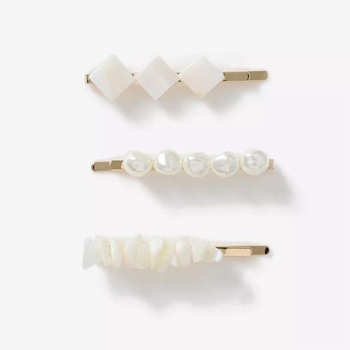 White hair clips Topshop