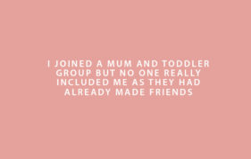 New Mums Feel Lonely