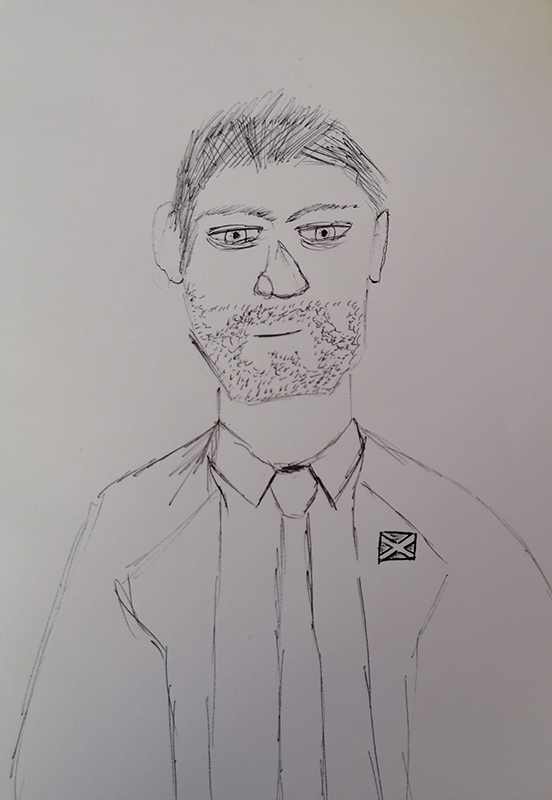 bad celebrity drawing Gerard Butler