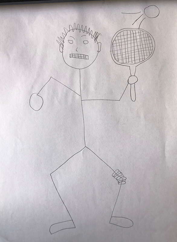 bad celebrity drawing Andy Murray