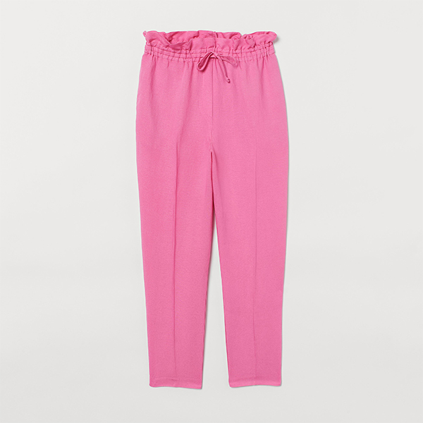 H&M Pink Linen Trousers