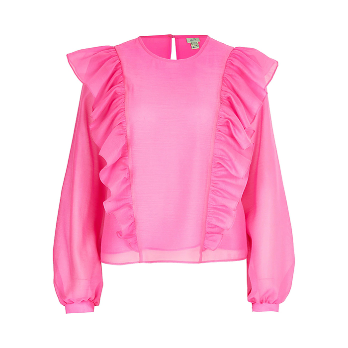 Pink Frill Top River Island