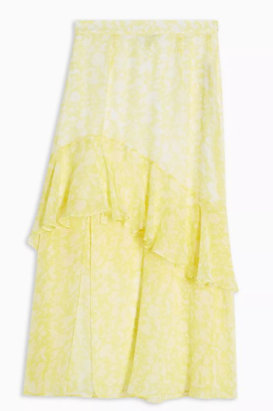 New Season Yellow Midi Skirts