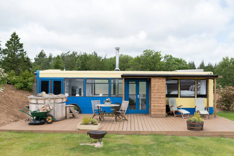 Unusual Airbnb Scotland Converted Bus