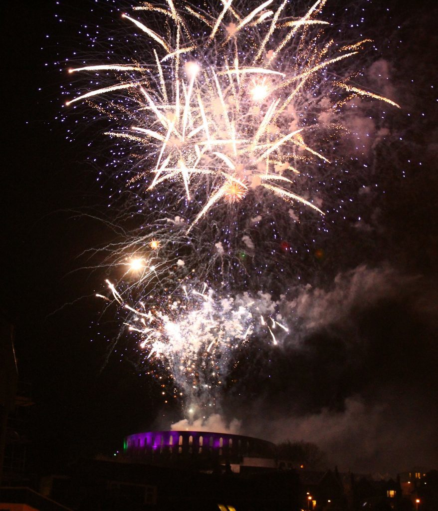 Fireworks displays took place in Oban and on Mull. Oban photographs: Kevin McGlynn